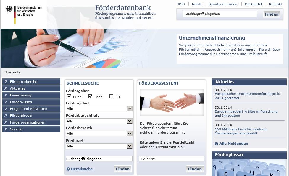 Förderdatenbank