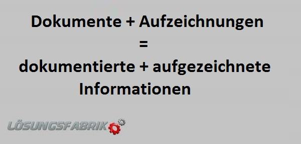 dokumentierte Informationen ISO 9001