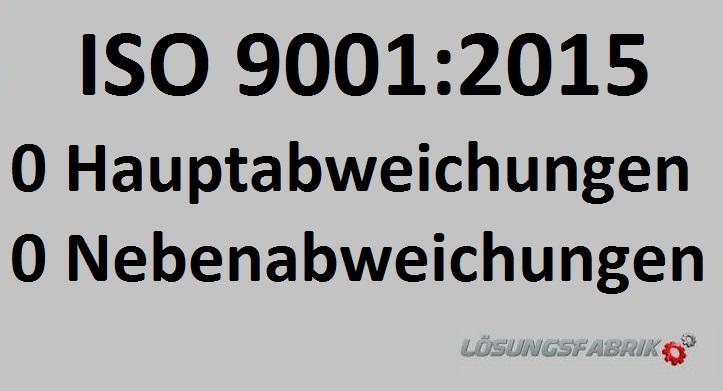 ISO 9001:2015 erstes Zertifizierungsaudit
