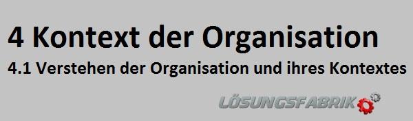 Kontext der Organisation