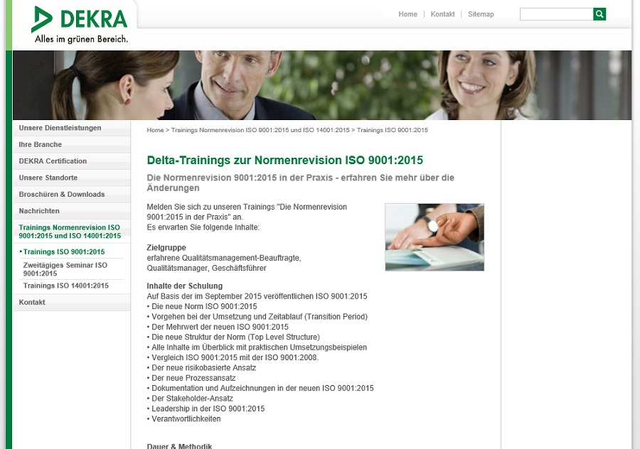 Dekra Training ISO 9001:2015
