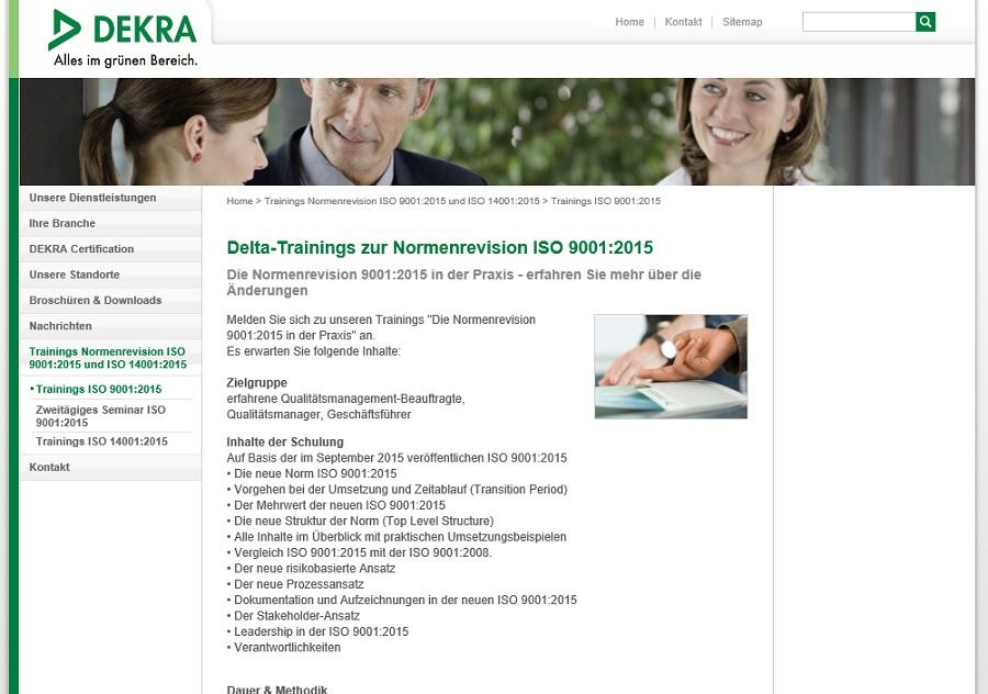 Dekra Training ISO 9001:2015
