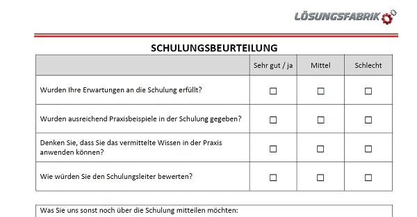 Vorlage Schulungsfeedback Blog Der Losungsfabrik